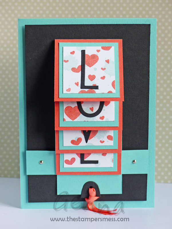 The stampers mess cards scrapbooking and other for Waterfall design in scrapbook
