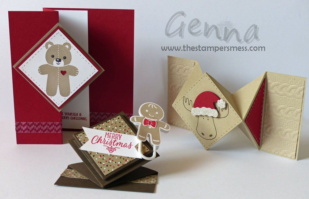 NOVEMBER CLASS – Diamond Folded Christmas Cards