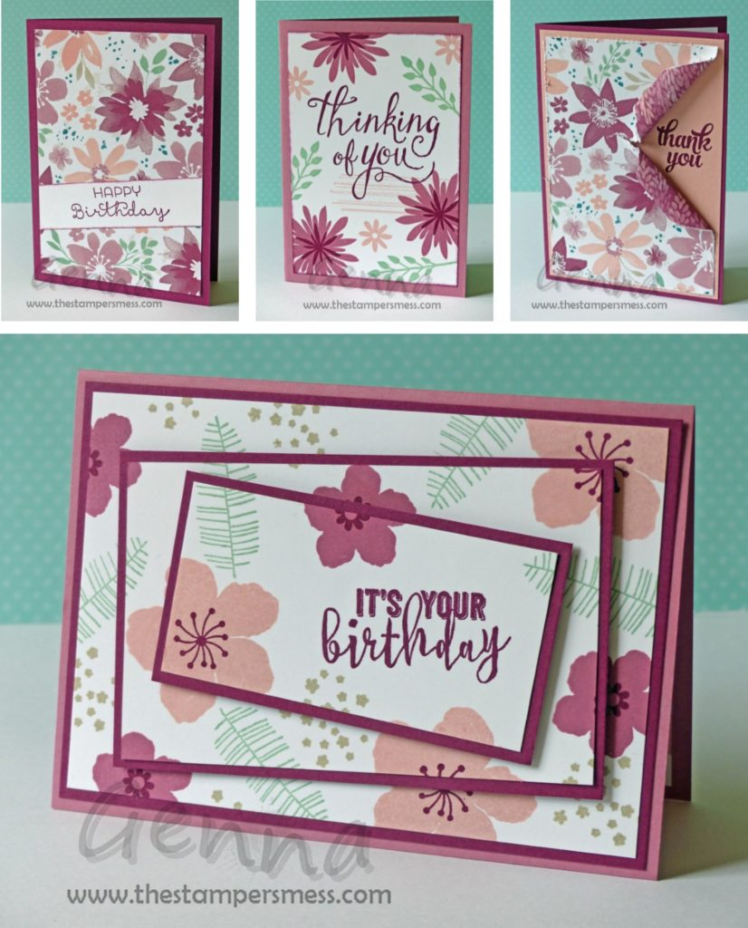 Patterned Paper Class Cards